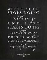 start doing something